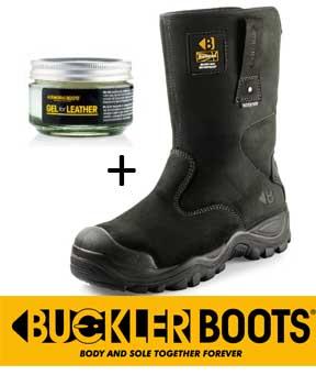 Buckler veiligheidslaars buckshot zwart S3 + gratis onderhouds gel 119,95